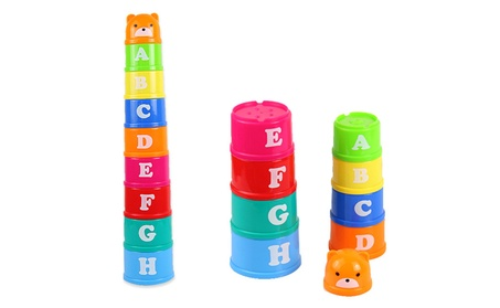 Numbers Letters Cup Stack Block Learning Toy Educational Stacking Toy bb644140-26ed-495c-8c0a-ee5e9e448943