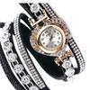Casual Rhinestone Bracelet Wristwatch for Women