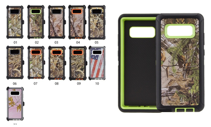 size 40 1da60 d3ec7 Samsung Note 8 Case Camouflage Belt Clip Fits Otterbox Defender ...
