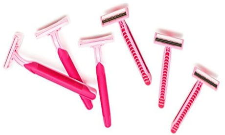 Premium Women's Disposable Pink Razor For Hair Removal- 4 UNIT 769ebf19-9e33-4be1-a108-0930f9db61dd