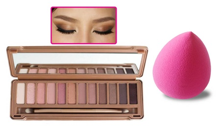 Perfect 12 Colors Eyeshadow Palette & Makeup Sponge As a Gift 585517dd-aa51-40d3-bec6-d7fb672d9e26