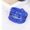 Swarovski Crystal Leather Wrap Bracelets