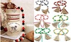 Wood Beads Garland with Tassel Farmhouse Home Decor for Room Ornament