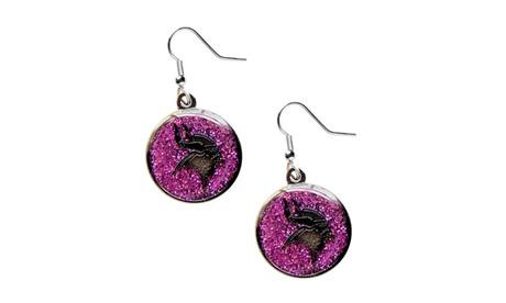 NFL Minnesota Vikings Glitter Sparkle Dangle Logo Earring Set 53f5a5cd-1172-4c52-954c-49c391313141
