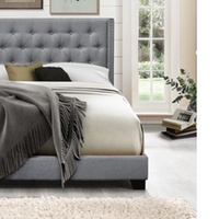 Groupon.com deals on Brady Modern Upholstered Bed, Full Size