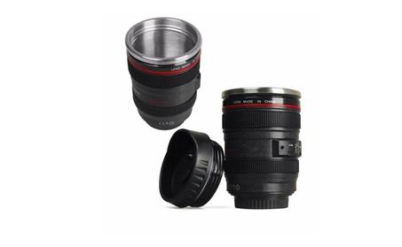 Camera Lens Cup 24-105 Coffee Travel Mug Thermos Stainless Steel, Leak f8f108dc-10d3-45e3-a067-3f690d144f34