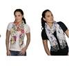 5-Pack - Amtal Women Floral Geometric Design Lightweight Scarves