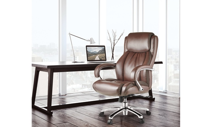 Bonded Leather Office Chair Executive Computer Chair For Home Office Groupon