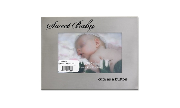 Brushed Silver Metal 4x6 Sweet Baby Picture Frame | Groupon