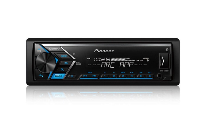 pioneer 1 din car stereo digital media receiver bluetooth usb aux groupon. Black Bedroom Furniture Sets. Home Design Ideas