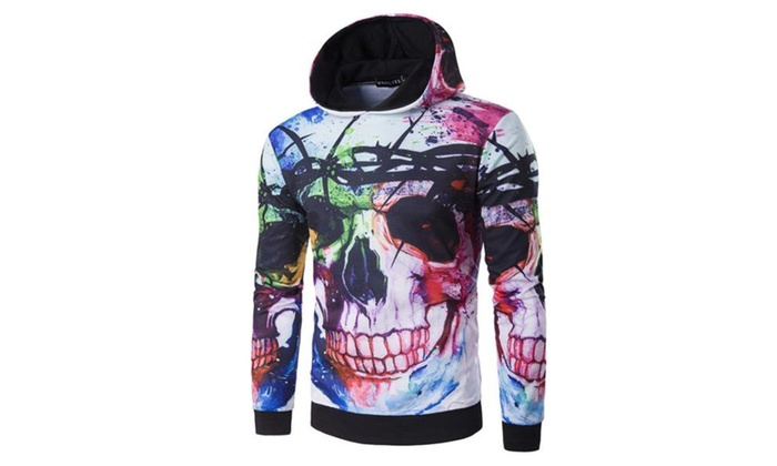 Men's Pullover Loose Fit Casual Graphic Printed Hoodies