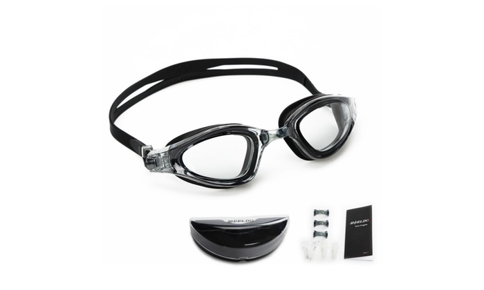Shieldo Anti Fog Swim Goggles With 3 Interchangeable Nose Pieces