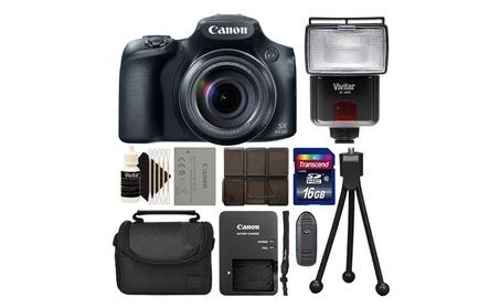 Canon Powershot SX60 16.1MP Digital Camera 65x Optical Zoom Black