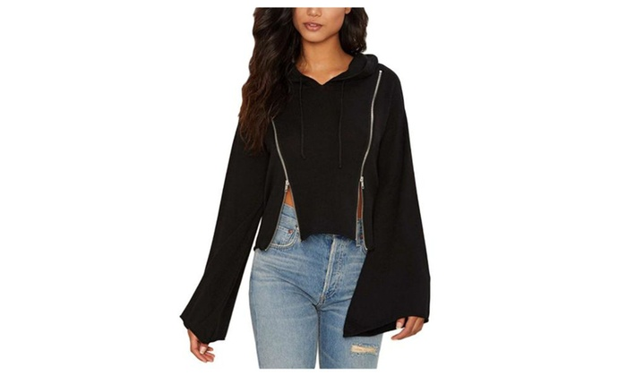 Women's Solid Loose Fit Casual Long Sleeve Sweatshirt