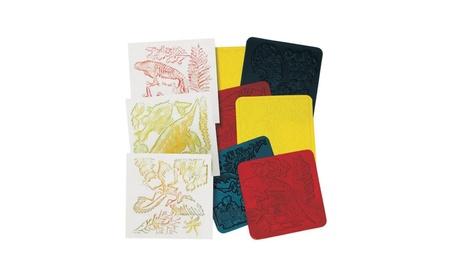 Roylco R-5842 7 x 7 Fossil Rubbing Plates - 6 Package f157b8ed-7511-4589-8853-b2fc644b5cd4