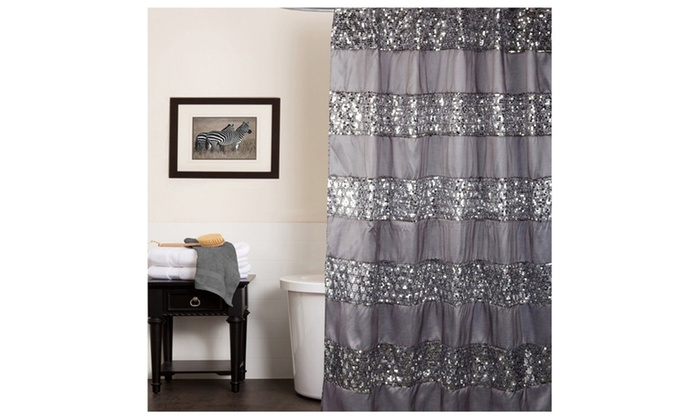 Sinatra Silver Bath Collection - Shower Curtain | Groupon