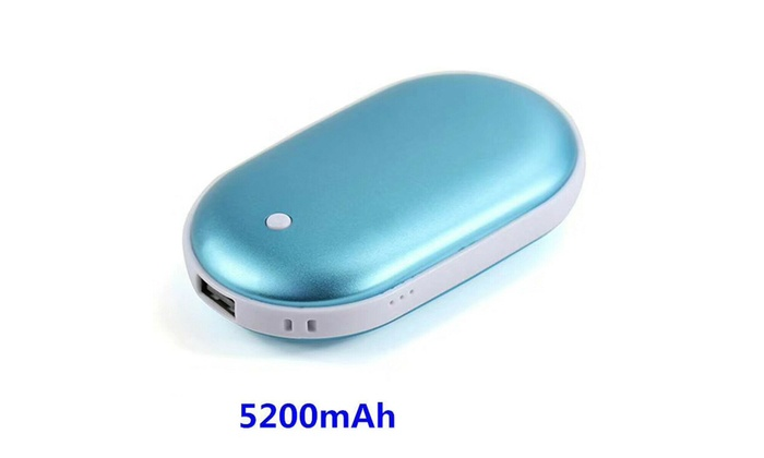 5200mAh Portable Pocket Heater Hand Warmer Rechargeable Power Bank USB Charger