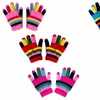 Peach Couture Toddlers Winter Double Layer Rainbow Gloves Pack of 3