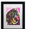 Dean Russo 'Rottie' Matted Black Framed Art