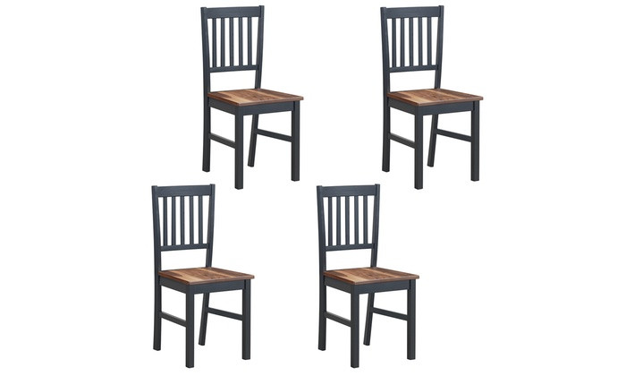 Up To 19 Off On Set Of 4 Dining Chair Kitchen Groupon Goods