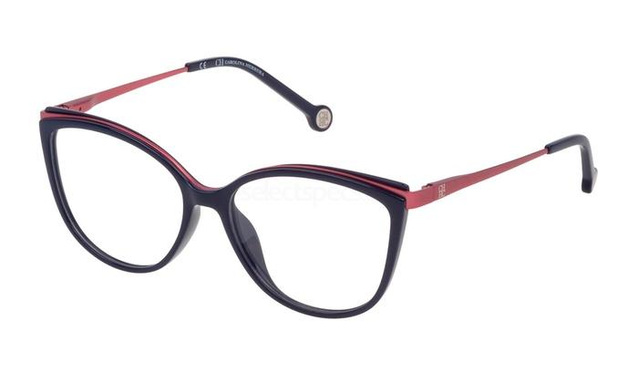 Carolina Herrera Cat Eye Women Eyeglasses VHE783-07A5 53