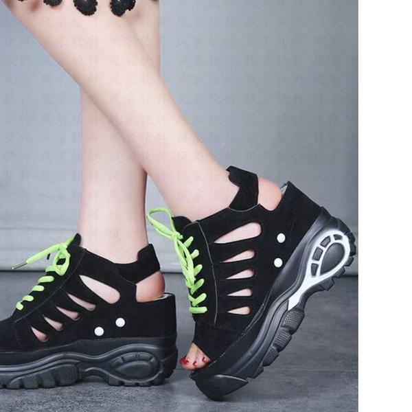 ea6db3a5741 Raised Sandals Women's Platform Shoes Summer Women's Wisp of Air-permeable  Pumps