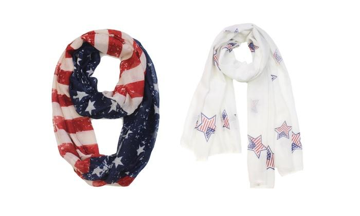 Unika7: American Flag Infinity / Oblong Scarf