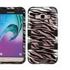 Insten Zebra Hard Hybrid Case For Samsung Galaxy J3 2016 Rose Gold/blk