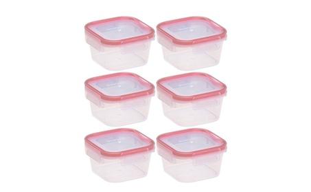 1.3 Cup Square Airtight Plastic Food Storage Container, Pack of 6 e3434ff7-d6e6-4e13-bb5e-ea0f47db4011