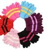 (6 Pack) Women's Fuzzy Plush Striped Magic Gloves