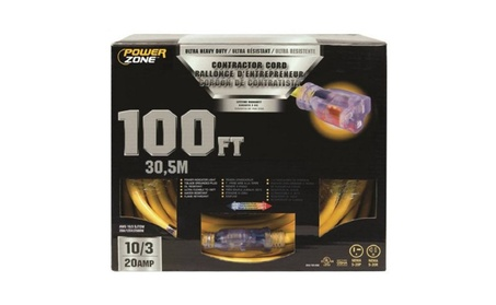 Power Zone ORP711935 Cord 100 ft. 10 By 3 Pro T - Blade 20 Amp e0e79035-8b36-45d1-a38c-0aa3a842bed5