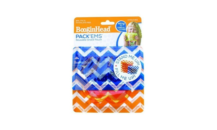 2-Pack Small//Large BooginHead PackEms Snack Pouches 1 Small /& 1 Large