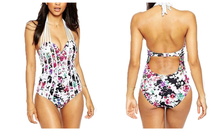 One-piece  Printing Design Swimwear