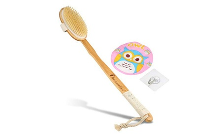 Bamboo Bath Brush - Shower Body Brushing, Body Back Scrubber 1e7d3952-8732-4d01-b49a-18a0baa11f5f