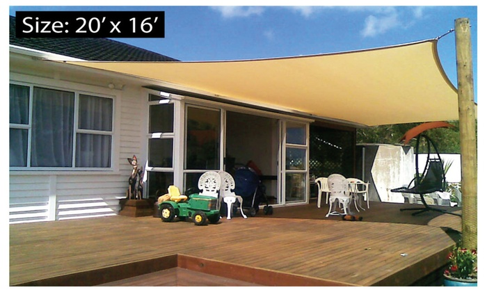 & Rectangle Patio Sail Sun Shade Canopy Cover | Groupon