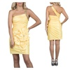 One Shoulder Short Evening Dress in Yellow