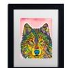 Dean Russo 'Wolf' Matted Black Framed Art