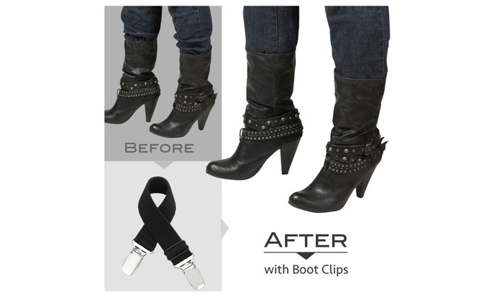 Hold'Em Boot Straps Elastic Adjustable or Straight Stirrup Pants Clips