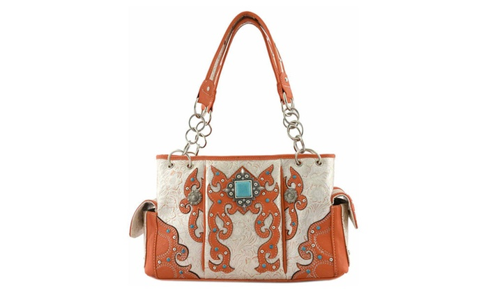 Women's Designer Western Top Handle Bag QQY8469