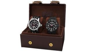 Joshua & Sons Men's Strap and Bracelet Watch Set JXGP113