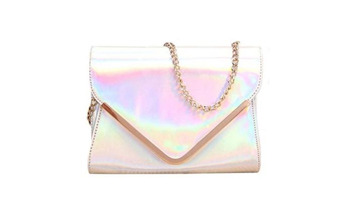 Women's Glitter Holographic Envelope Single Shoulder Bag Crossbody Bag