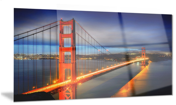 Groupon Goods Golden Gate Bridge Landscape Photo Metal Wall Art 28x12