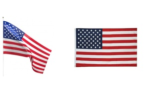 American Flag - 3x5 Feet Suitable for Indoor and Outdoor Use