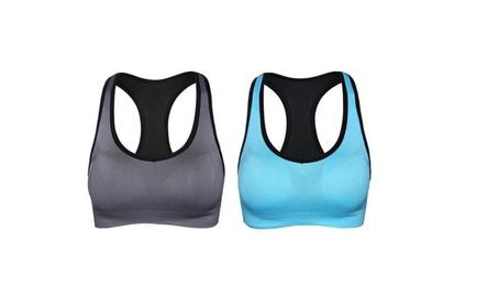 Women Racerback Sports Bras - High Impact Workout Gym Activewear Bra 572e47ab-75a2-45e7-a7a6-0ea210b4ec5b