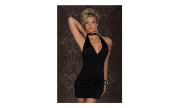Women's Nightclub Costume Role-Playing Lingerie Dress Style - JPWL103 - Black / XSmall