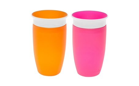 Munchkin Miracle 360 Sippy Cup, Pink/Orange, 10 Ounce, 2 Count 23e7ef0f-1cbf-45b5-9fc6-c6d13fafed4d