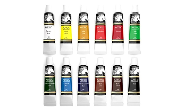 Up To 68 Off On Acrylic Paint Set Artist Pain Groupon Goods