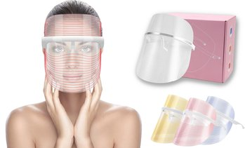 3 Colors LED Light Therapy Mask Face Beauty Instrument Facial SPA Treatment