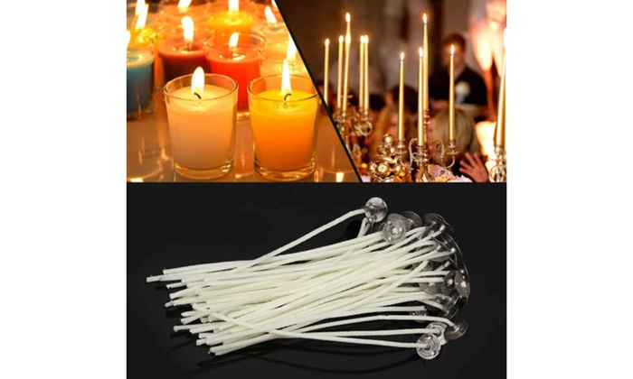 100 x 120mm-12cm Pre Waxed Wicks For candle making with sustainers.