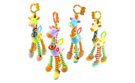 Crib Hanging Toy Plush Giraffe Rattle Bell Doll Toy Baby Education Toy f468da19-58c3-45a6-9f8e-067e55c5f49d